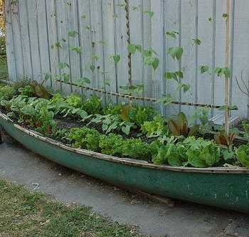 Planter Made From An Old Canoe