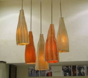 Luffa lamps