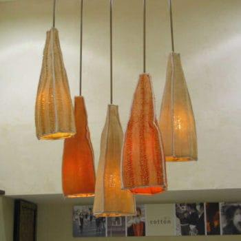 Luffa lamps