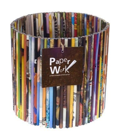 Magazine Garbage Basket Recycled Furniture Recycling Paper & Books