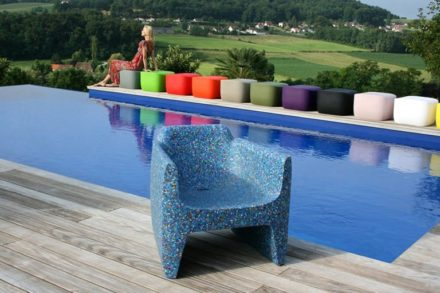 Garden Armchair Made From Recycled Bottle Caps