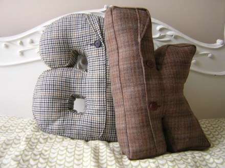 Alphabet pillow custom