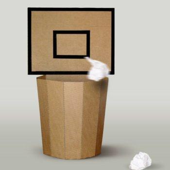 Cardboard Basket Bin