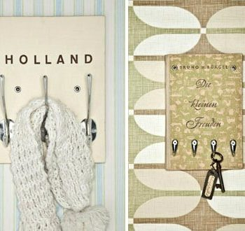 Book hooks for keys and coats