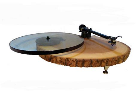 recycled turntable Audio Wood : turntables in wood electronics art  with Wood / organic turntable 