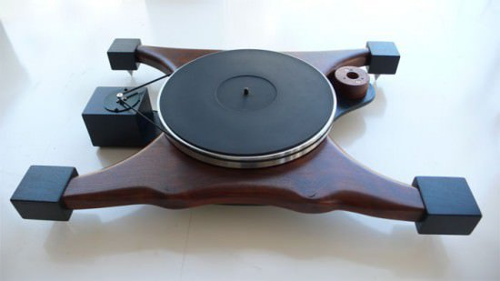 Audio Wood : turntables in wood electronics art  with Wood turntable