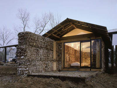 Corrugated cardboard pod
