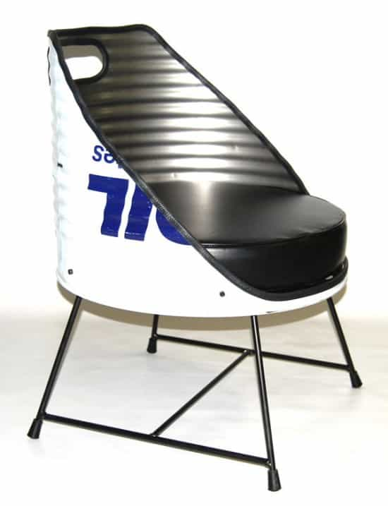 Oil drum seats by Vaho in furniture metals  with Seat Drum