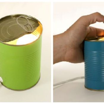 Light Disposables From Upcycled Tin Cans