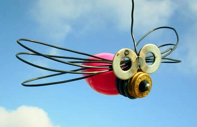 Bulb dragonfly in glass electronics  with Bulb Animals