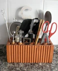 Kitchen holder in accessories  with kitchen brick