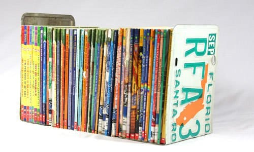 License Plates Bookends Do-It-Yourself Ideas Recycling Metal