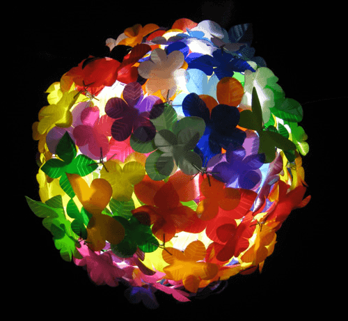 From Packaging To Art Lamps & Lights Recycled Plastic