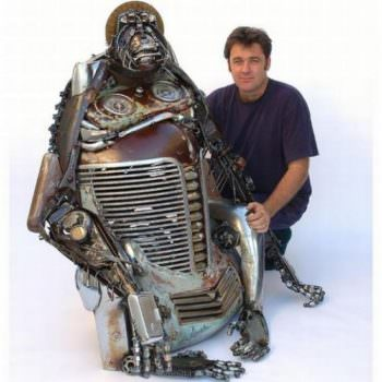 Car Parts Upcycled Into Amazing Sculptures