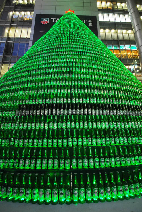 china christmas tree2 1000 beer bottles christmas tree in packagings glass  with Tree Christmas Bottle Beer