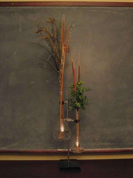 Vases Made From Discarded Lab Equipment Recycled Glass