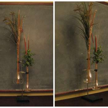 Vases Made From Discarded Lab Equipment