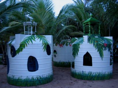 Used water tanks into kids palaces !