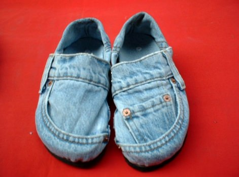 Denim shoes ? in fabric accessories  with shoe denim