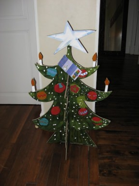 Cardboard christmas tree