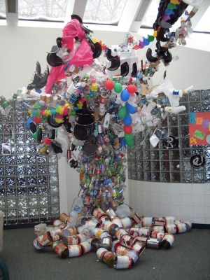 Recycled Art Tree