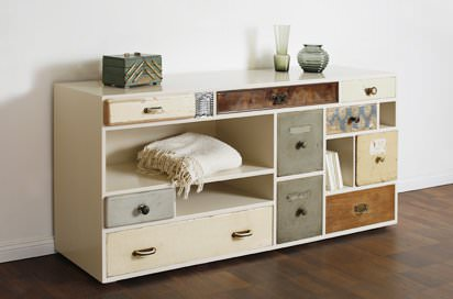 Re-using Drawers Recycled Furniture Wood & Organic