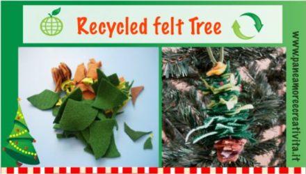 Recycled Felt Christmas Tree