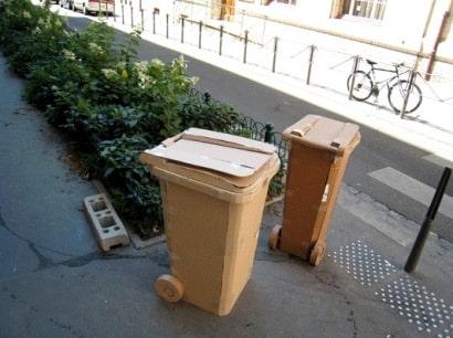 Cardboard bins