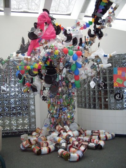 Recycled Art Tree