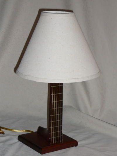 Guitar desk neck lamp