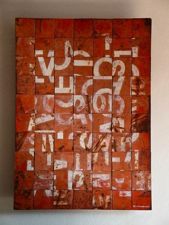 Decostruzione by Zanino Recycled Art Recycling Metal