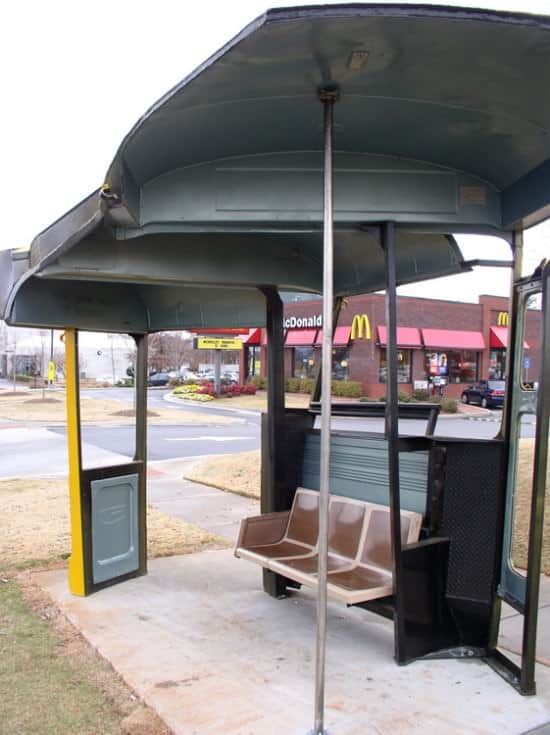 Bus Stop Shelter Home Improvement Mechanic & Friends Recycling Metal