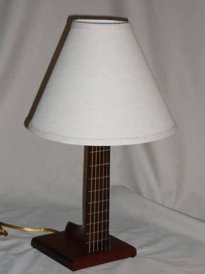 Guitar Neck Upcycled into Lamp