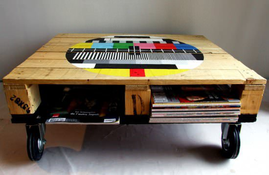 Pallet Coffee Tables (Custom) Accessories Do-It-Yourself Ideas Recycled Furniture Recycled Pallets Wood & Organic