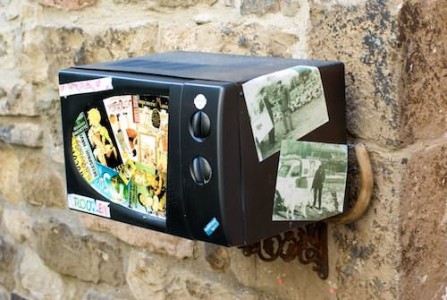 Microwave Mailbox Accessories Recycled Electronic Waste