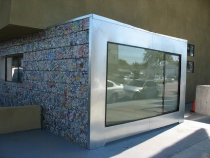Recycled and Crushed Cans Building