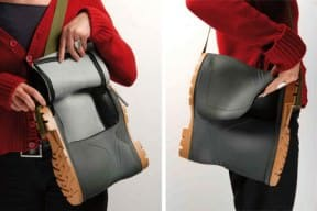 Rubber boot bag