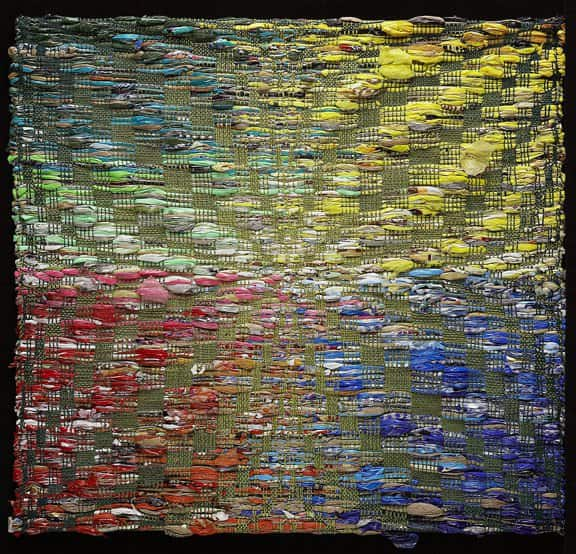 Repurposed Plastic Bags Tapestry Recycled Art Recycled Plastic