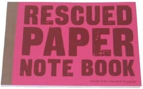 Rescued paper note book