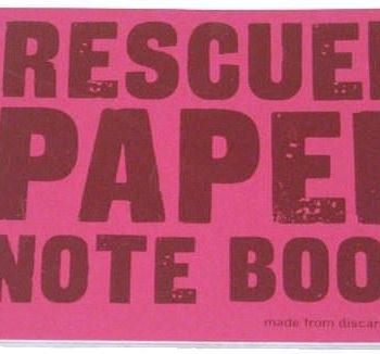Rescued paper note book