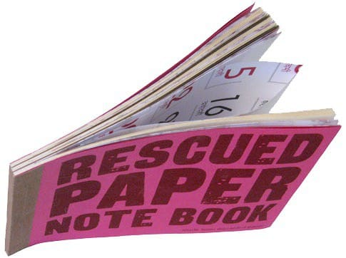 Rescued Paper Note Book Recycling Paper & Books
