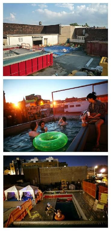 Dumpster Upcycled Into Pool