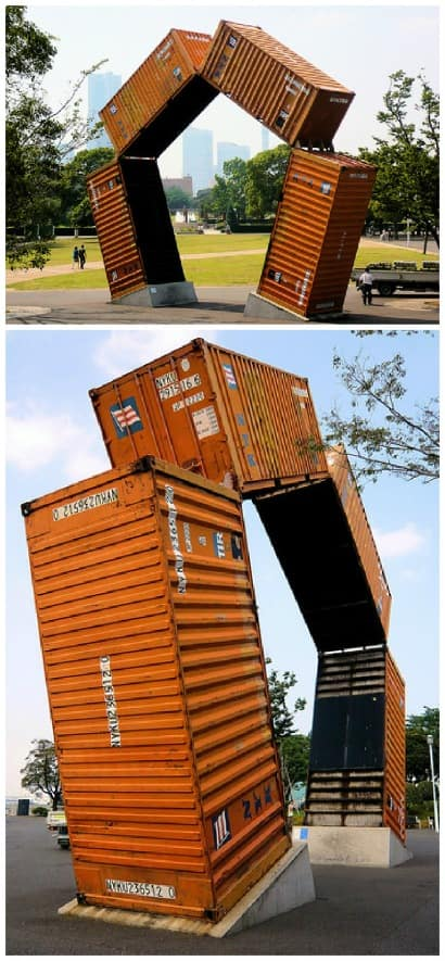 Upcycled Container Sculpture
