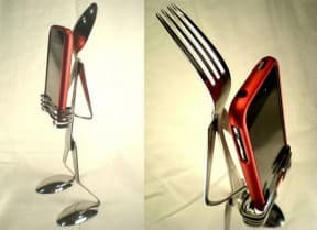 Silverware iPhone stand