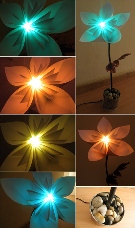 Flowertimer Lamps & Lights Recycling Paper & Books