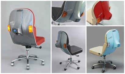 Upcycled Vespa Parts Into Beautiful Design Chairs