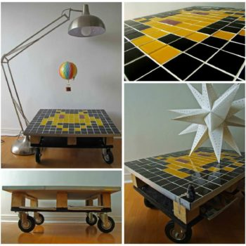 Space Invader Pallet Coffee table