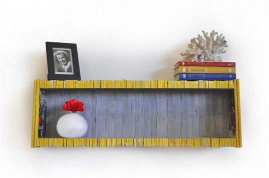 Magazine shelf in paper furniture  with Shelves Paper & Books Magazine
