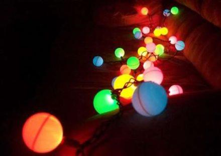 DIY: Ping Pong Ball Light Garland