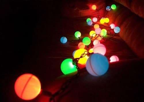 DIY: Ping Pong Ball Light Garland Do-It-Yourself Ideas Lamps & Lights